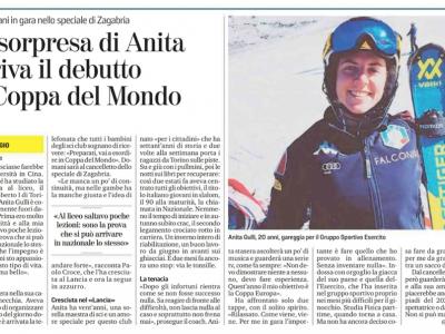 Anita: debutto in Coppa del Mondo